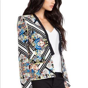 Cynthia Vincent Printed Tuxedo Blazer